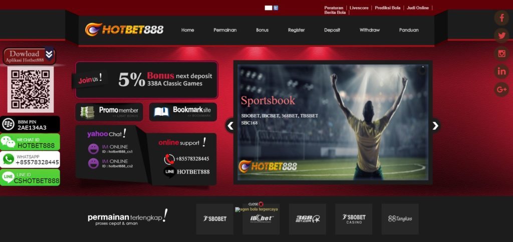 Situs Bermain Judi Bola88 Online di Hotbet888